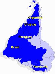 Resultado de imagen para mercosur mapa
