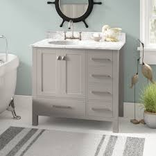 Dark bathroom vanity Dark Grey Quickview Wayfair Dark Grey Bathroom Vanity Wayfair