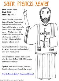 Paper Dali Free Saint Francis Xavier Coloring Page