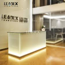 office reception table design. Luxury Modern LED Light Office Reception Table Design C