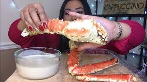 Mukbang: King Crab with Alfredo Sauce ...
