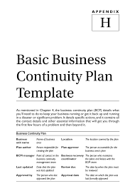 Small Business Disaster Recovery Plan Template Freeinuity Word Pdf