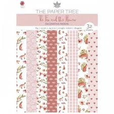 The Paper Tree A4 Decorative Papers 160gsm 32 Sheets The Fox The Flower