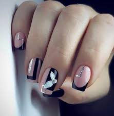 Nail Designs With Jewels Top 55 Easy Nail Designs For Short Nails Flippedcase
