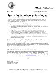 College Student Resume For Summer Job Resume For Your Job