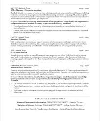 Administrative Resume Examples Executive Administrative Assistant