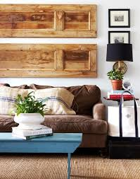 goodbye big blank walls large scale solutions apartment therapy i love the use of wood panels on this wall could be done with doors and old shutters  on wall decor for big empty walls with goodbye big blank walls large scale solutions big blank wall