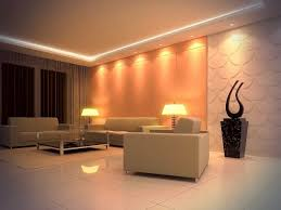 ... Living Room Ideas Wall Lights For Beige Leather Sectional Sofa With  Yellow Lighting Ceramic Floor Modern ...