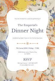 Formal Dinner Invitation Sample Fascinating 48 Dinner Invitation Designs PSD AI Free Premium Templates