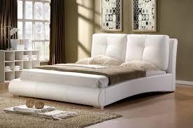 merida cushion white or black leather bed frame 5ft kingsize