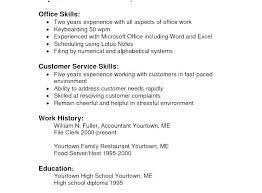 Skill Resume Sample Hairdresser Apprentice Sample Customer Service