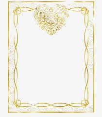 vintage gold frame heart shaped vintage vector png and vector