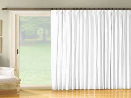 Splendiferous White Curtains Pinch Pleated Sheer Drapes Window Treatment  Hang On Bronze Curtain Bar Added White Frosted Wide Window In Luxury Living  Room ...