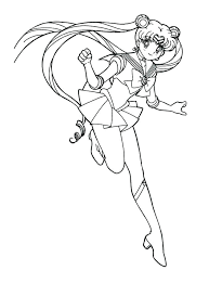 Sailor Moon Coloring Pages Online Free Sailor Moon Coloring Page