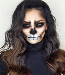 hair style skeleton makeup make up ideas face paint for