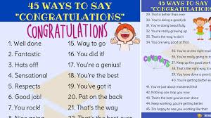 Words For Congratulations Congratulations Synonym 45 Ways To Say Congratulations 7