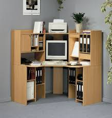 Furniture, Corner Desk Ikea For Home Office Cool Brown Color Material Good  Computer Small Bookshelves Some Books Cool Grey Color Design: The Unique  Designs ...