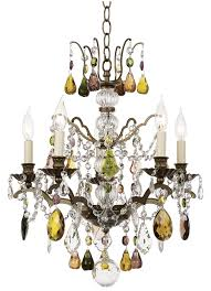 15 best chandeliers for closets images on crystal with regard to brilliant house colored crystal chandelier designs