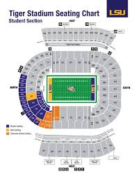 Lsu Seating Chart With Rows 69 Paradigmatic Tiger Stadium Seating Chart With Rows