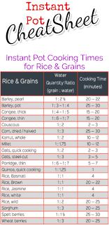 Instant Pot Cooking Times Chart Instant Pot Cooking Times Free Cheat Sheets Instant Pot