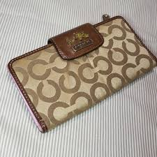 Coach Signature Brown Large Wallet