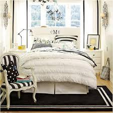 Black and white teen girls bedroom