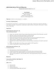 Tag Clerk Sample Resume Delectable Medical Office Clerk Resume Sample Post Office Clerk Resume Sample