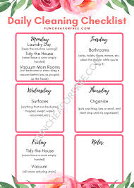 cleaning checklist daily cleaning checklist printable demo funcheaporfree com 1 fun