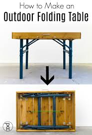 how to make an outdoor folding table