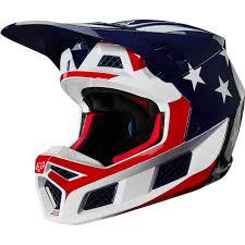 Fox Racing V3 Prey Helmet Color Whiteredblue Size S