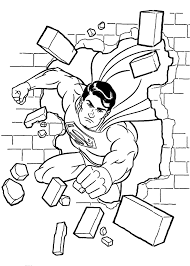 Small Picture Lego Superman Coloring Page Coloring Home