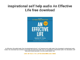 Inspirational Self Help Audio An Effective Life Free Download Delectable Life Inspirational Images Download