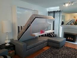 modern wall bed. Perfectly Balanced Murphy Bed Sofa Combination From Murphysofa.com Modern Wall