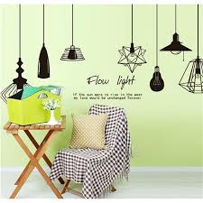 creative chandelier wall art decal stickers removable mural pvc home decor home decor wall stickers wall decor with 9 62 set on henyun technology s