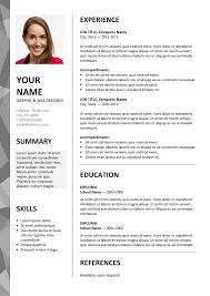 Dalston Free Resume Template Microsoft Word Gray Layout Classic