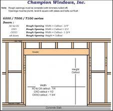 interesting framing closet door rough opening garage with liftmaster