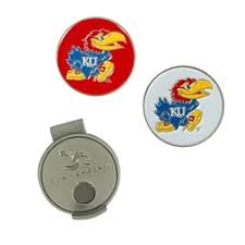 ball markers. jayhawk golf hat clip \u0026 ball markers