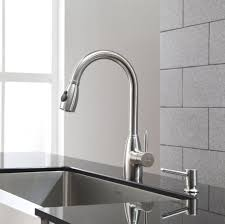 stylish kraus 2 holes kitchen faucet with soap dispenser