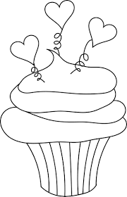 Small Picture 59 best outlines CUPCAKES images on Pinterest Drawings