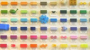 Lego Brick Colour Chart Every Colour Lego Has Ever Used Revealed Creative Bloq