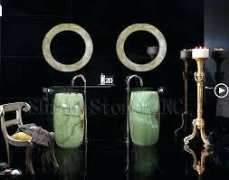 barrel sink bathroom green onyx barrel pedestal sink bathroom project purchasing souring agent purchasing service platform