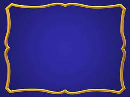 Blue And Gold Powerpoint Template Blue Gold Frame Ppt Backgrounds Ppt Backgrounds Frame Templates