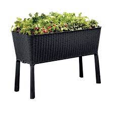 h anthracite raised garden bed 238699