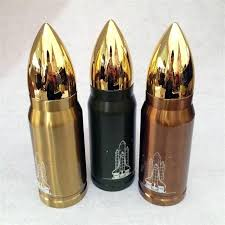 Bullet Shape Thermo Bottle <b>350</b>/<b>500ML Stainless</b> Steel Double ...