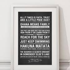 disney quote framed wall art