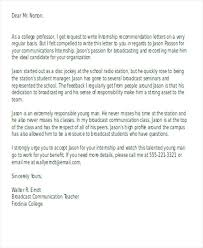 Free Reference Letter Sample Adorable Recommendation Letter Finance Intern Example Of Letters For Student