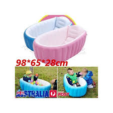 new baby kids toddler summer portable inflatable bathtub newborn thick bath tub pink