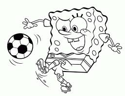 Small Picture spongebob playing soccer coloring pages images about