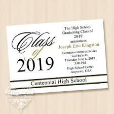 commencement invitations details about 10 graduation invitations 2019 high school college invitations gold white black