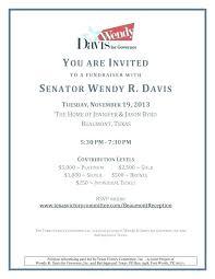 Political Fundraising Invitations Campaign Letter Template